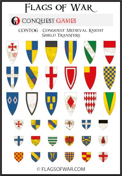 Medieval Knights shields
